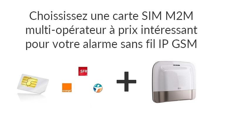 Bien choisir sa carte SIM M2M pour son alarme